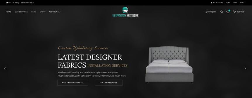 GJ Upholstery Masters Website Design