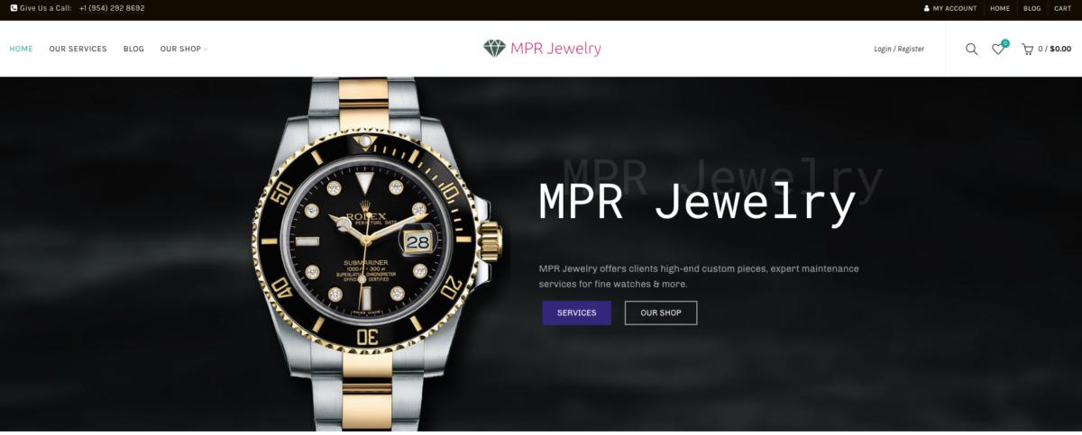 MPR Jewelry Website Design