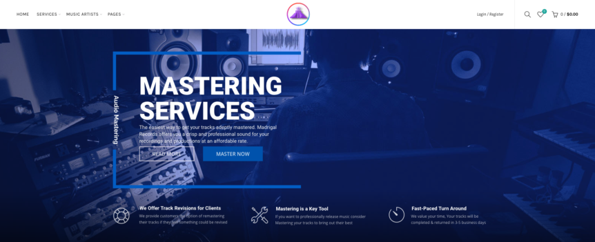 Madrigal Records Website Design