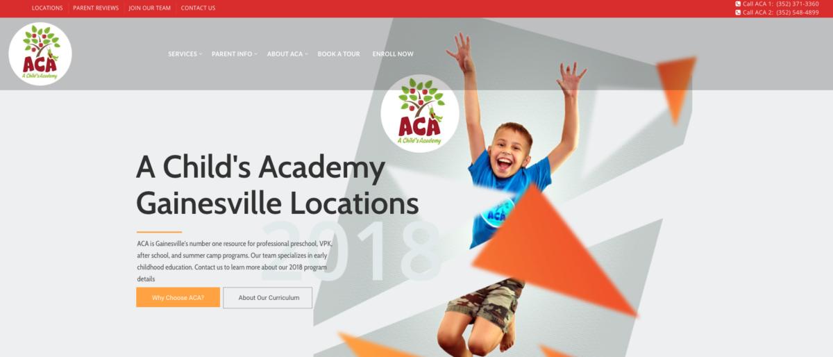 A Child's Academy Website Design