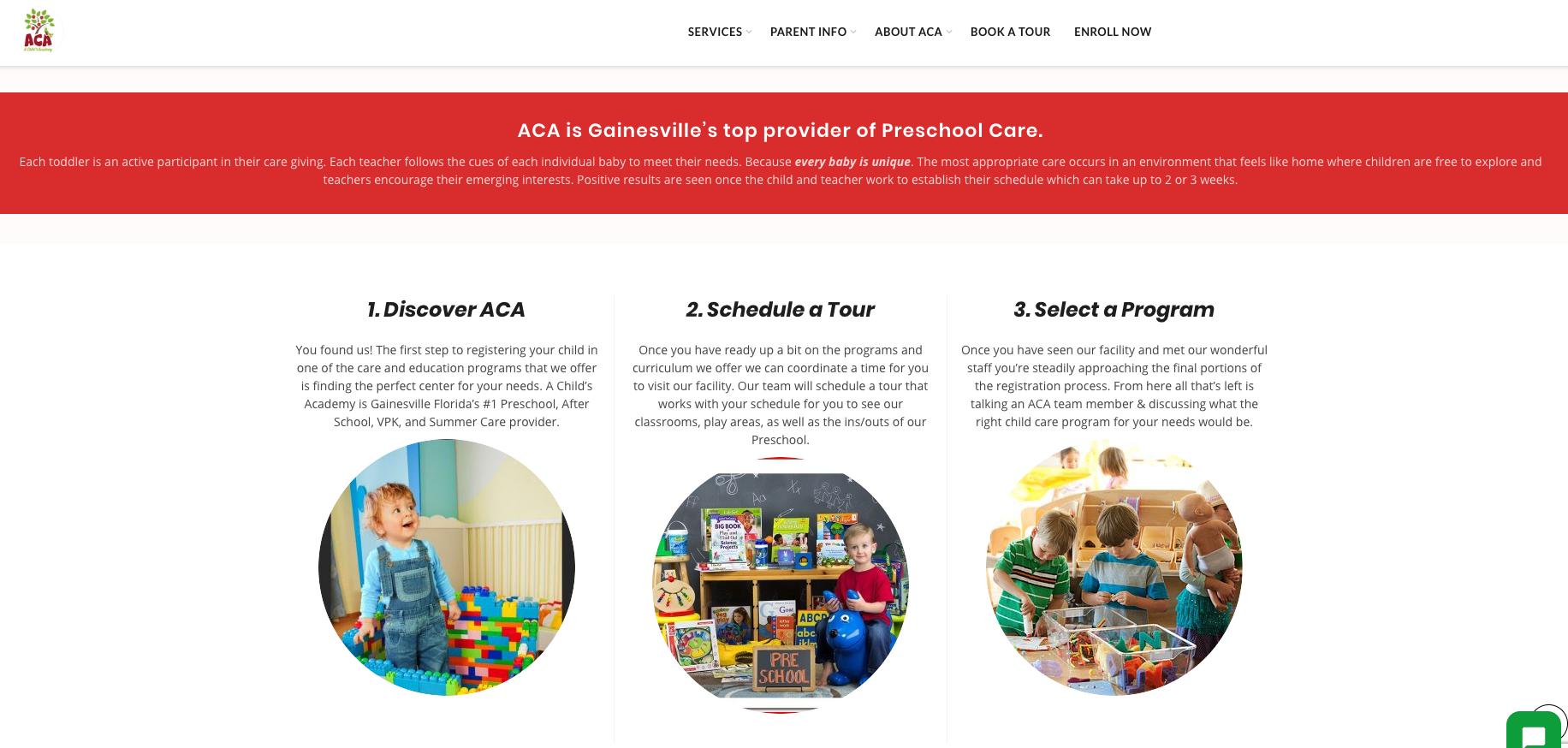 ACA Website Design