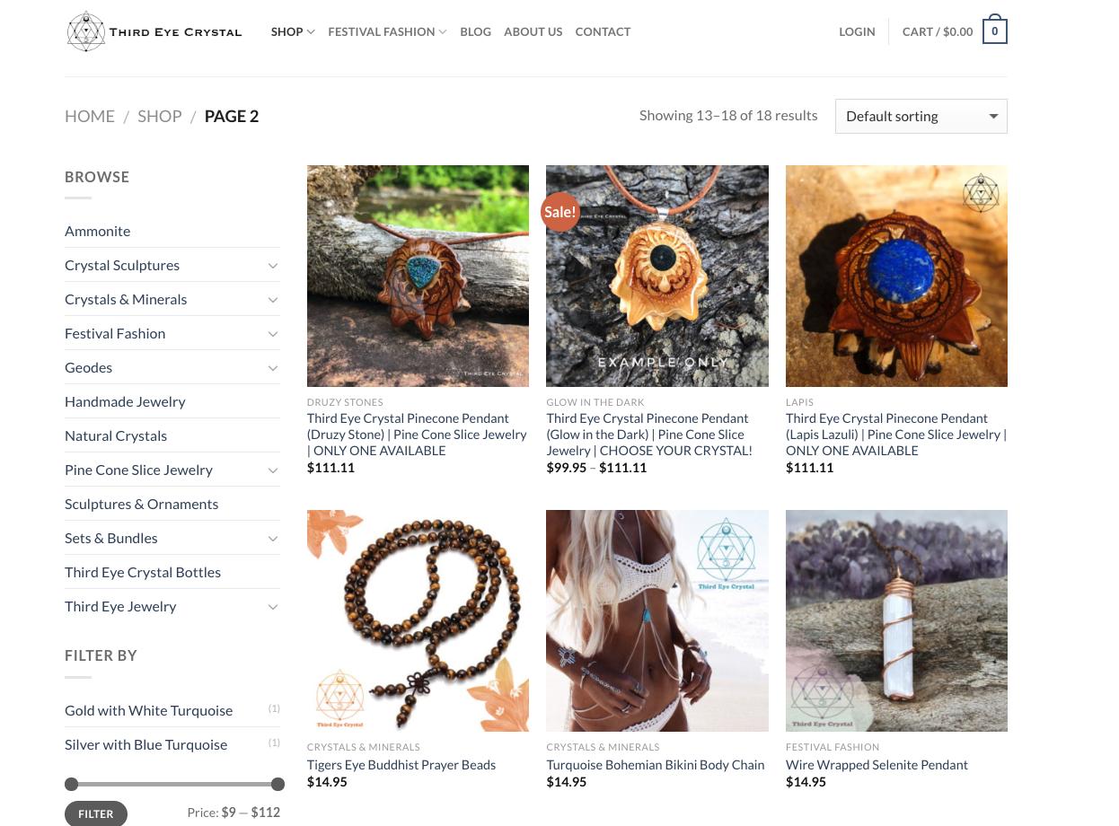 Third Eye Crystal Site Design