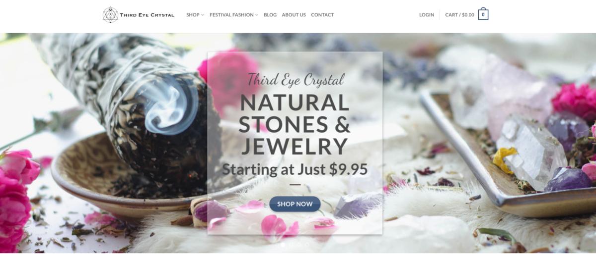 Third Eye Crystal Website Design